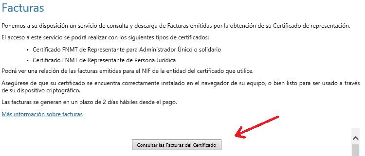 FNMT ceres. Descargar la factura de la fnmt ceres del certificado digital de Persona Jurídica.