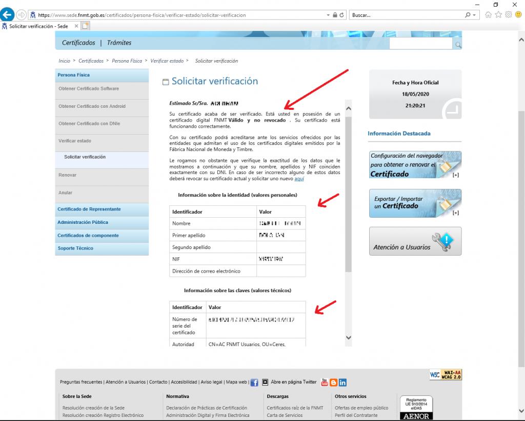 FNMT CERES - Información sobre el Certificado Digital