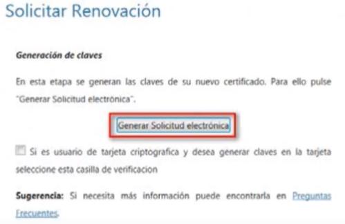 FNMT ceres. Generación de solicitud electrónica en la Renovación del Certificado Digital Persona Física en la fnmt ceres.