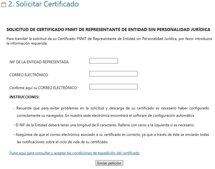 FNMT ceres. Cómo solicitar Certificado Digital fnmt de Entidad sin Personalidad Jurídica.