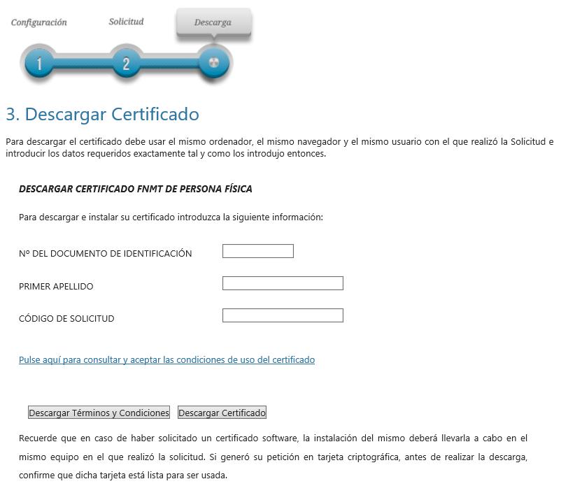FNMT ceres. Cómo Descargar Certificado Digital fnmt de Persona Física con DNI electrónico.