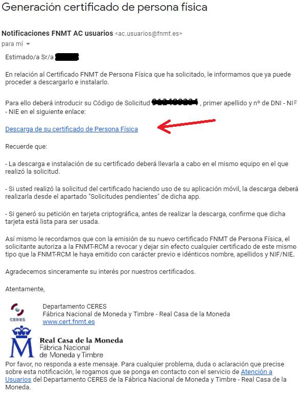 FNMT ceres. Descargar Certificado Digital fnmt de Persona Física con DNI electrónico.
