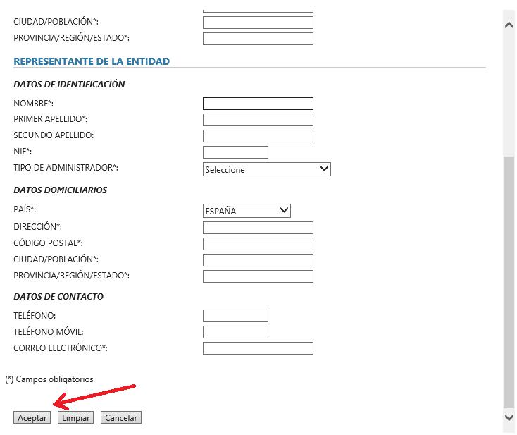 FNMT ceres. Aceptar datos en la web de la FNMT en la solicitud de Certificado Digital fnmt de Administrador Único o Solidario con certificado electrónico de Persona Física.