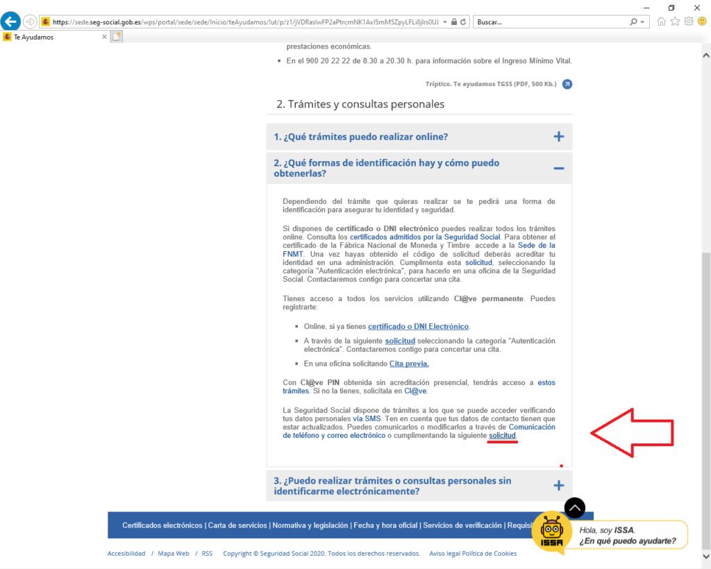 Hacer la solicitud para cita previa Certificado Digital
